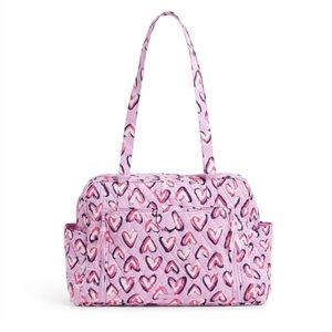NWT Vera Bradley Baby Bag Hearts Iced Pink